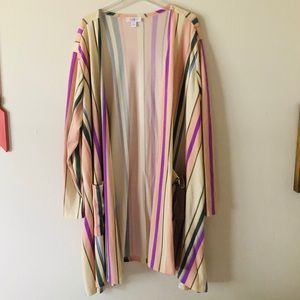 LuLaRoe Striped Cardigan